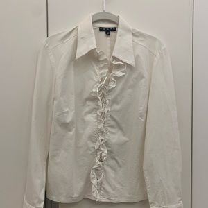 Penta white lace up button up top